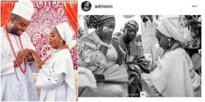 Newly wed lady said her Nigerian mum cried at her wedding because of this {Photos}